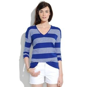 Madewell Deckhouse Striped Blue Sweater